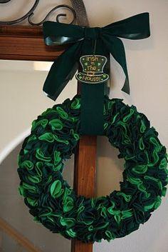 Green Felt Wreath for St. Patrick's Day