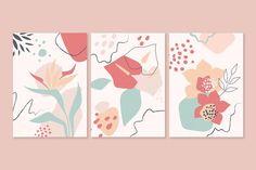 Easy Canvas Art, Small Canvas Art, Art And Illustration, Flower Graphic Design, Art Painting Gallery, Organic Art, Art Corner, Minimalist Painting, Printable Wall Art