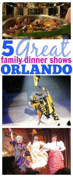 5 Great Family Dinner Shows in Orlando, Florida. Family-friendly dinner entertainment! #LoveFL #ad