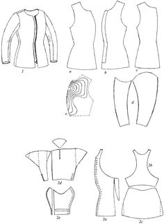 Patron Pourpoint / Doublet von Charles de Blois, ca. Medieval Costume, Medieval Armor, Medieval Fashion, Medieval Clothing, Viking Jewelry, Ancient Jewelry, Brigantine Armor, Clothing Patterns, Sewing Patterns