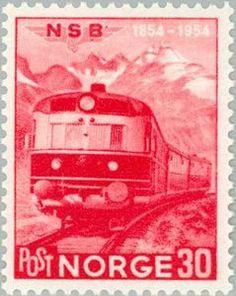 Sello: Railways (Noruega) (Railways) Mi:NO 385,Sn:NO 332,Yt:NO 350,AFA:NO 399