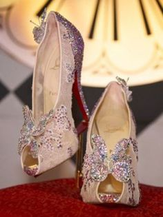 Christian Louboutin Reimagines Cinderella's Glass Slipper - DREAM WEDDING SHOES