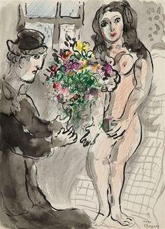 Marc Chagall, Les amoureux au bouquet