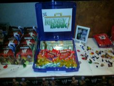 Money in the bank box at party wwe theme