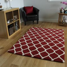 Moorish Fes Red FF Trellis Rug Straight