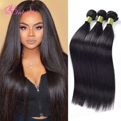 7A Unprocessed Malaysian Virgin Hair Straight 3 Bundles Malaysian Straight Hair Extensions Human Hair Weave Sale Straight Hair