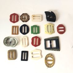 Excited to share this item from my #etsy shop: Vintage Lot of 16 1930s Dress Buckles | Celluloid | Bakelite 1930s Dress, Art Deco Design, Etsy Shop, Beauty, Vintage, Vintage Comics, Beauty Illustration