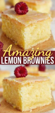 Lemon Desserts, Lemon Recipes, Brownie Recipes, Baking Recipes, Yummy Recipes, Cake Recipes, Recipies, Yummy Treats, Sweet Treats