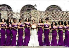 A beautiful bride and a bevy of beauties in plum! Repost @peridotofficial #bridesmaids #bride #weddings #blackbride #blackbride1998 #somethingperidot #norrisweddingaffair
