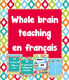 Whole Brain Teaching Posters (French) French Practice, Teaching Posters, French Worksheets, Whole Brain Teaching, Core French, French Classroom, Teacher Created Resources, French Language Learning, French Lessons
