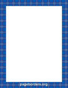 Printable blue plaid border. Use the border in Microsoft Word or other programs for creating flyers, invitations, and other printables. Free GIF, JPG, PDF, and PNG downloads at http://pageborders.org/download/blue-plaid-border/