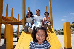 Children in the playground in SOS Children's Village Tehuacán, Mexico