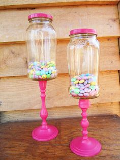 Pink affordable apothecary jars / Candy Buffet by plainjanesstore, $17.00