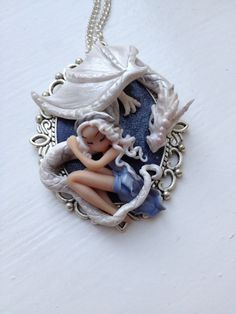 Game of thrones,Daenerys and drogo,film characters,dolls,miniaturesPolymer clay pendant,handmade,gift for her,dolls