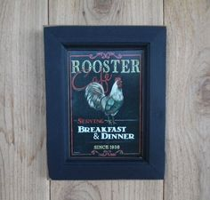 Rooster Cafe ...   country home decor  wall by BoggyCreekPrimitive