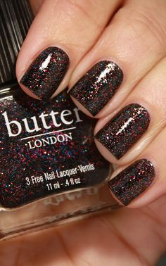 Butter London The Black Knight - currently on my nails and it is my new favorite.