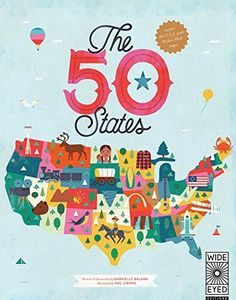 The 50 States: Explore the U.S.A with 50 fact-filled maps! by Gabrielle Balkan et al., http://www.amazon.com/dp/1847807119/ref=cm_sw_r_pi_dp_DrAivb1XCNMMZ