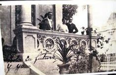 At her home in La Havana, Dolores Rodríguez de Astudillo y Ponce de León more commonly known as Lola Rodríguez de Tió with her brother Justo and brother-in-law Ramon.