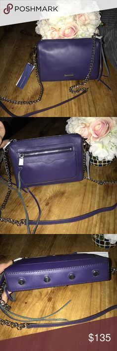 REBECCA MINKOFF Avery crossbody bag NWT!!🌗Avery crossbody,So with the flash on this comes up royal blue, the color is called eclipse, it's more of a deep night sky color blue. it has a silver chain strap, and is just a gorgeous bag, high quality genuine leather authentic Rebecca Minkoff Rebecca Minkoff Bags Crossbody Bags