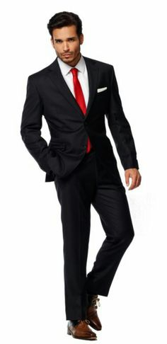 shirt and tie combinations with a black suit mens
