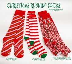With our Christmas Running socks you'll be ready to take on any race you have planned this holiday season!