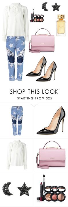 """""""241"""" by pipiolina ❤ liked on Polyvore featuring See by Chloé, WithChic, Laura Geller and Tory Burch"""