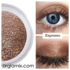 Highly pigmented, all-natural concentrated color, Orglamix Mineral Eyeshadow is natural and contains no fillers, binders or extenders. The best mineral makeup money can by. Best Eyeshadow, Mineral Eyeshadow, Cream Eyeshadow, Mineral Cosmetics, Natural Eyeshadow, Natural Cosmetics, Organic Eyeshadow, Eyeshadow Pigments, Brown Eyeshadow
