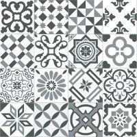 Carrelage imitation ciment gris et blanc mix 20x20 cm ANTIGUA GRIS - 1m² Ribesalbes