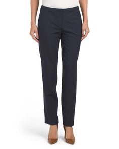 Jillian+Wool+Blend+Slim+Pants