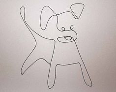 dog line drawing | One line drawing dog | Flickr - Photo Sharing!