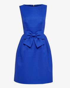 Bow dress - Bright Blue | Dresses | Ted Baker FR
