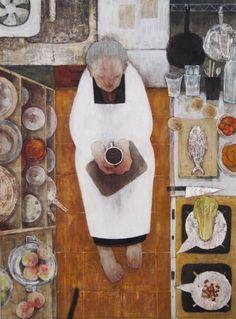 the art room plant: 山下由介 Contemporary art Illustration Inspiration, Book Illustration, Figure Painting, Painting & Drawing, Art Magique, Poster S, Tea Art, Kitchen Art, Kitchen Floor