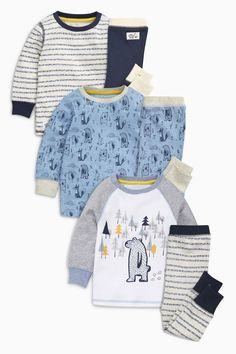 Kaufen Sie Pyjamas mit Bärenmotiv, Dreier-Pack (9 Monate bis 8 Jahre) heute online bei Next: Deutschland