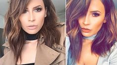 41 Lob Haircut Ideas For Women - How I Style My Shorter medium length Hair | CHIC-Y DEEKY HAIR | DesiPerkins -What is a lob? Step by step easy tutorials on how to cut your hair for a lob haircut and amazing ideas for layered, and straight lobs. Ideas for lobs with bangs, thick hair, wavy and thin hair. For long hair and medium hair. For round faces and sharp features - thegoddess.com/lob-haircut-ideas-women