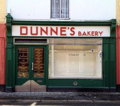 Photographing the colors and typography of traditional Irish shops. Vintage Labels, Vintage Shops, Bakery Interior, Variety Store, New Pizza, Scenery Background, Shop Buildings, Irish Culture, House Names