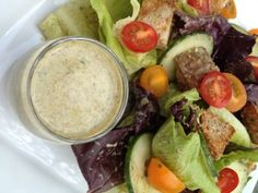 Creamy Italian Dressing Recipe - Dress your salad with this creamy dressing. It's loaded with all the flavors of Italy without any of the fat.
