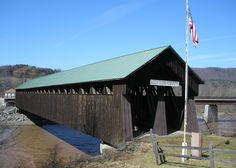 One of many covered bridges in NY State. This one in Blenheim NY, unfortunately destroyed by hurricane Irene.
