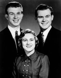Bill Gaither with his brother Danny and sister Mary Ann as the Bill Gaither Trio