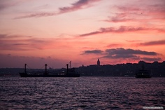 View over the Golden Horn at The Galata Tower in Istanbul