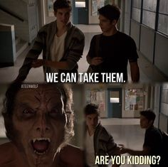 Haha, I'm with Scott - Teen Wolf Teen Wolf Isaac, Stiles Teen Wolf, Teen Wolf Scott, Teen Wolf Boys, Teen Wolf Memes, Teen Wolf Funny, Mtv Shows, Wolf Love, Sterek