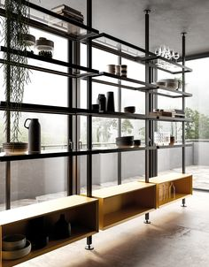 contemporary furniture 41 Classy Contemporary Shelves Designs Ideas - Are you looking to give your home a makeover If so, you may be on the lookout for some new and contemporary furniture to really transform your rooms. Contemporary Interior Design, Contemporary Bedroom, Interior Design Kitchen, Contemporary Furniture, Contemporary Shelves, Contemporary Style, Contemporary Building, Contemporary Cottage, Contemporary Apartment