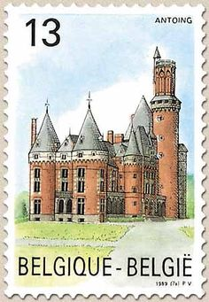 belgian stamps Tourisme Castel of Antoing