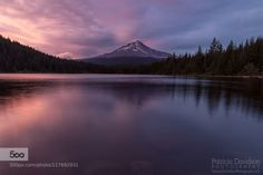 Trillium Lake Glow by pdavidsonphoto  lake Mt Hood Mt Hood National Forest Oregon Pacific Northwest Trillium Lake Trillium Lake Campground