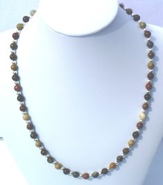 19 multicolor Jasper necklace by GemsandCrystals on Etsy, $23.25