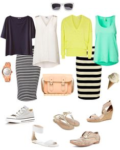 Striped Pencil skirt for Mum on the Go
