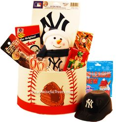 New York Yankees Christmas Gift Basket Brand new and redesigned for this holiday season, our best selling New York Yankees Christmas basket.