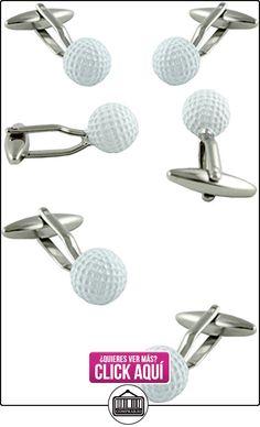 MasGemelos - Gemelos Bola Golf Blanca Cufflinks  ✿ Joyas para niños - Regalos ✿ ▬► Ver oferta: https://comprar.io/goto/B01FPXKOFC