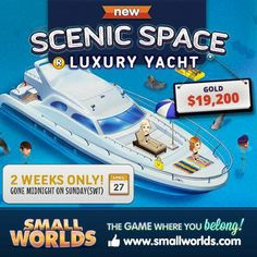 Get it while it's still around! The Luxury Yacht is available till the 27th of April!