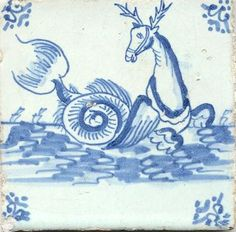 antique Delft tile - I bought one beautiful antique tile when I was in Delft
