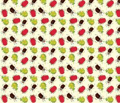 New fabric deasign available! Critters - red fabric by peikonpoika on Spoonflower - custom fabric